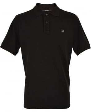 CP Company Black Short Sleeve Regular Fit Polo Shirt