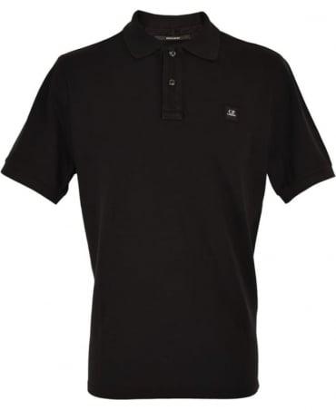 CP Company Black Short Sleeve Regular Fit Polo Shirt