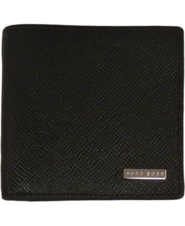 Hugo Boss Black 'Signature_8cc' Wallet In Textured Leather