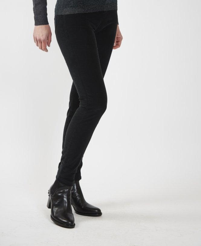 353098c7e4eb5 Emporio Armani Black Skinny Velvet Trousers - Jeans from Jonathan ...