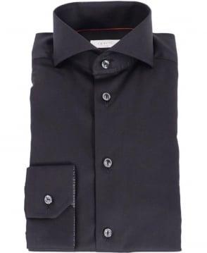 Eton Shirts Black Slim Fit Formal Shirt