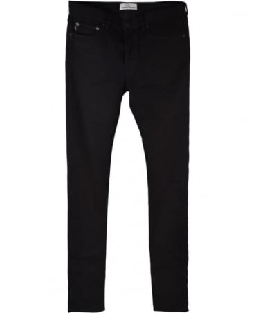 Stone Island Black Slim Fit J1BQ1 Stretch Jeans