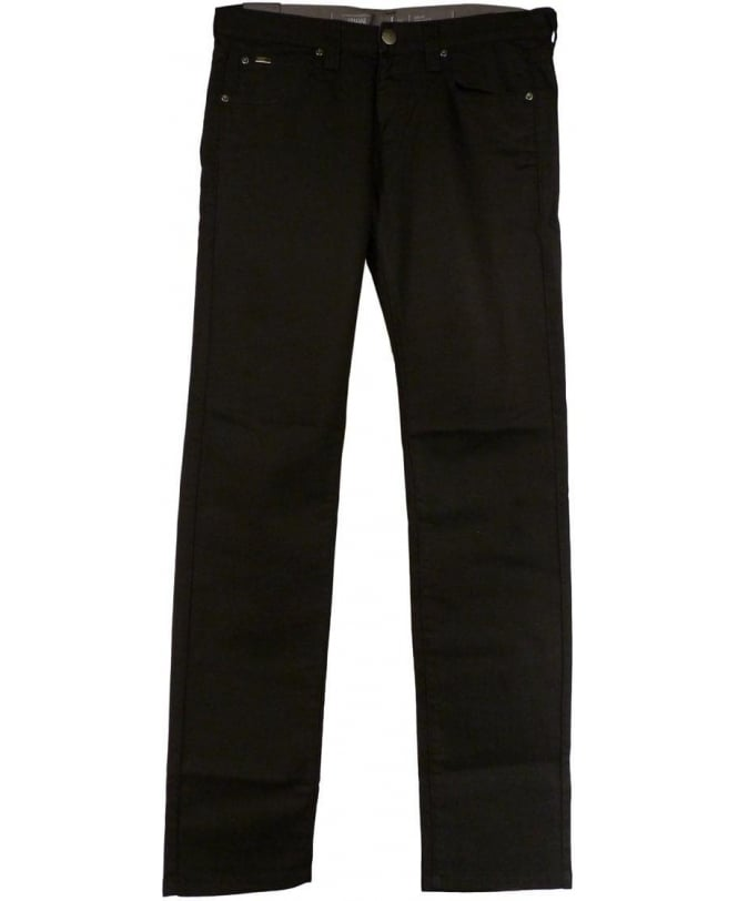 Armani Black Slim Fit Low Waist J06 Jeans