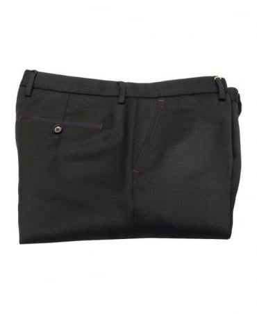 Hugo Boss Black Slim Purple Sitched Trousers
