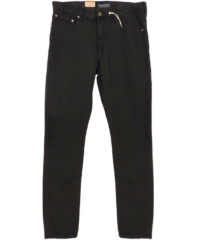 Scotch & Soda Black Slim Skinny Fit Skim Jeans