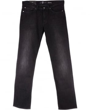 7 For All Mankind Black Slimmy Luxe Performance Slim Fit Jeans