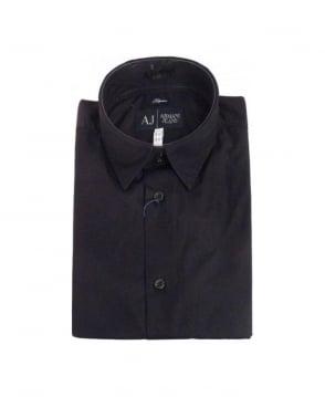 Armani Black Small Collar Shirt