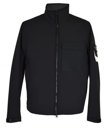 Stone Island Black Soft Shell With Primaloft Jacket