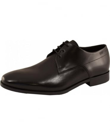 Black Square Derby Shoes