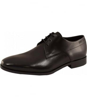 Hugo Black Square Derby Shoes