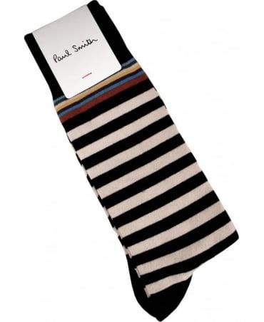 Paul Smith  Black Stripe With Multi Stripe Trim ASXC/380A/F602