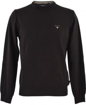 Gant Black Super Fine Lambswool Knitwear Jumper