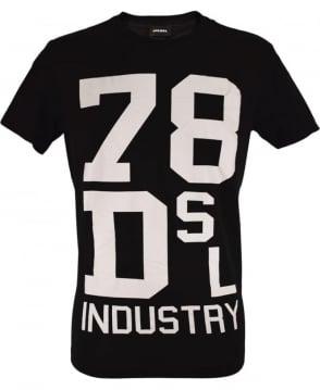 Diesel Black T-Diago Crew Neck T-Shirt