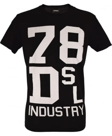 Diesel Black T-Diago Crew Neck T-Shirt