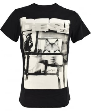 Diesel Black T-Diego-HF T/shirt