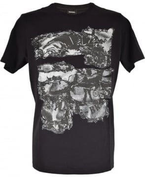 Diesel Black T-Joe Crew Neck T-Shirt