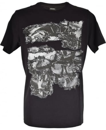 Diesel Black T-Joe Crew Neck T-Shirt
