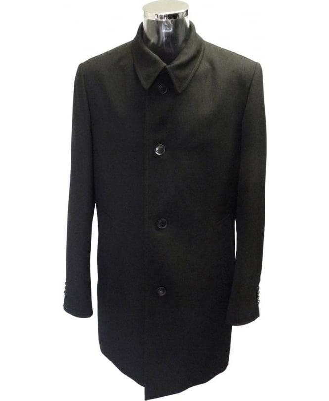 Hugo Boss Black & Tweed Detail 'Task' Overcoat