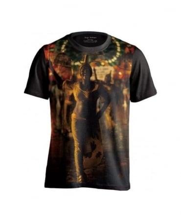 Serge DeNimes Black Umbrella Print T-Shirt