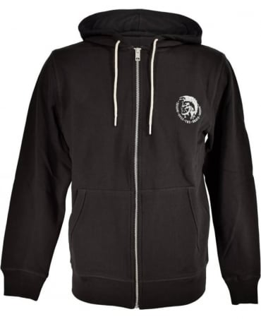 Diesel Black 'UMLT-Brandon-Z' Hooded Sweatshirt