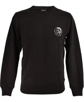 Diesel Black UMLT-Willy Crew Neck Sweatshirt