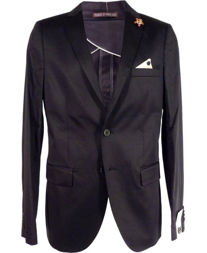 Scotch & Soda Black Unlined Tailored Fit Jacket