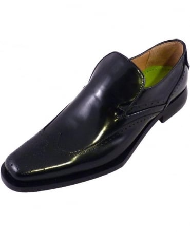 Black Ussin Slip On Shoes