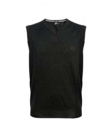 Black V-Neck Babar-B Knitwear