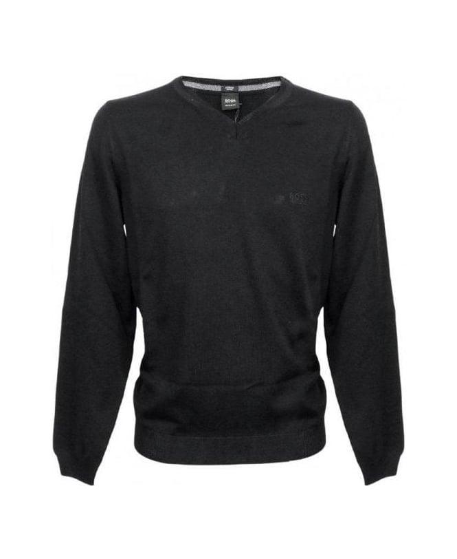 Hugo Boss Black V-Neck Batisse-B Knitwear