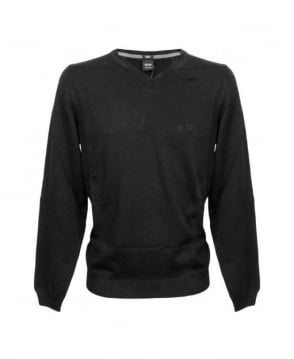 Hugo Boss Black V-Neck Batisse-B Knitwear