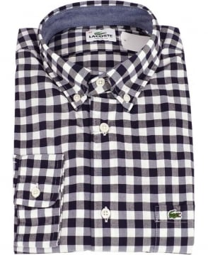 Lacoste Black & White Check Shirt