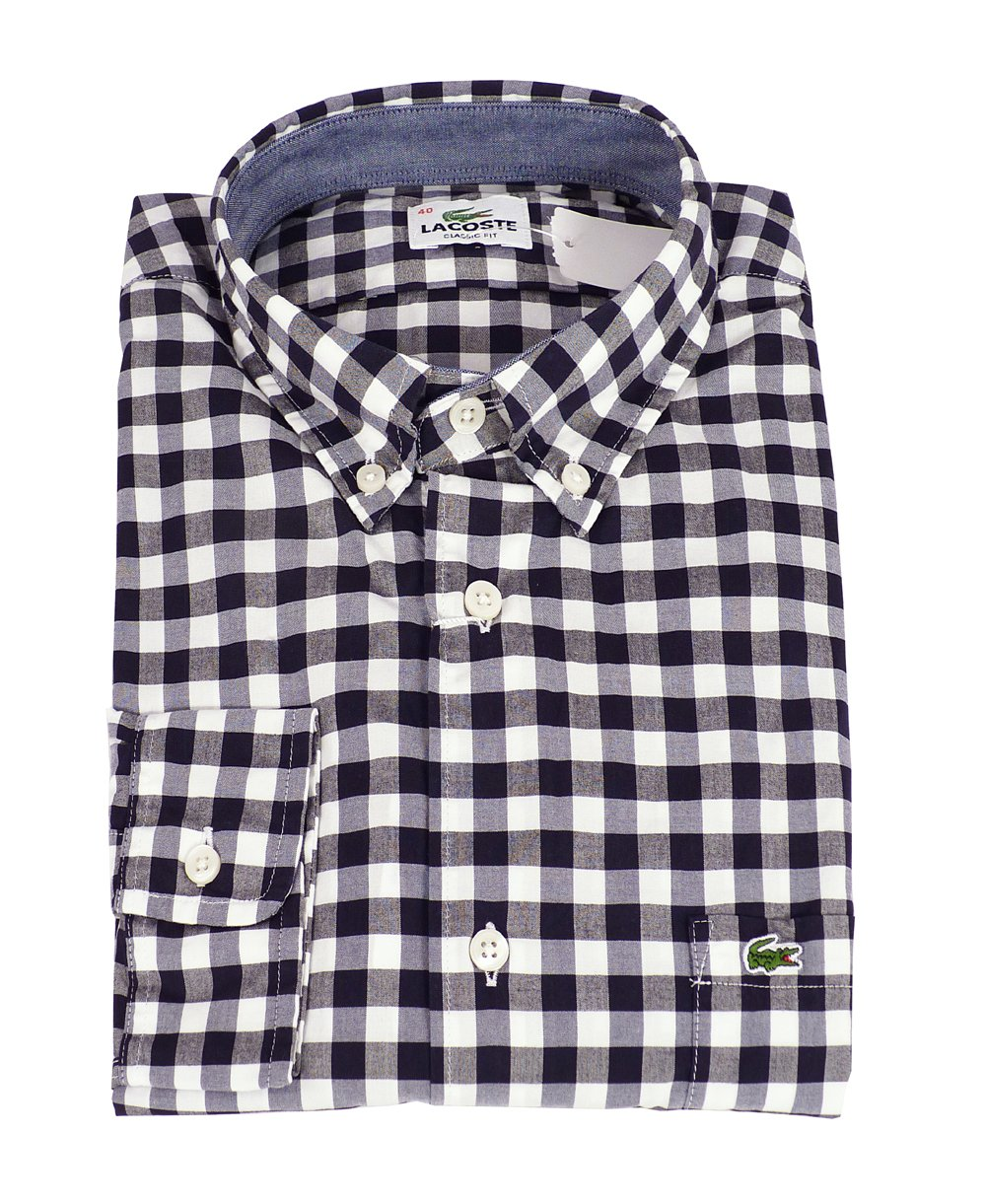Lacoste Black & White Check Shirt - Lacoste from Jonathan Trumbull UK