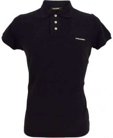 Dsquared2 Black White D7MD10580.11050 Three Button Polo