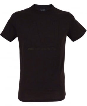 Armani Jeans Black with AJ Chest Logo T/Shirt