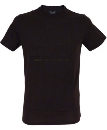 Armani Black with AJ Chest Logo T/Shirt