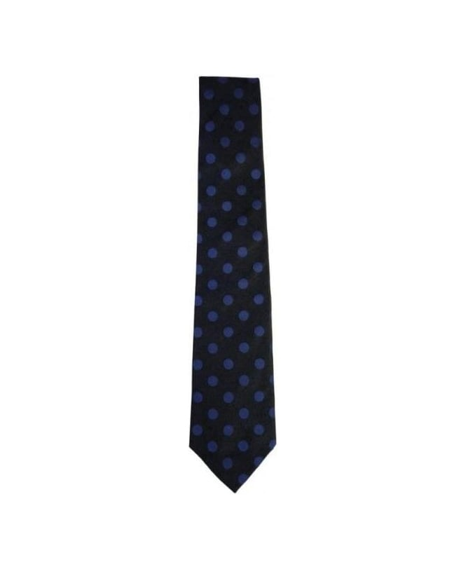 Paul Smith - Accessories Black With Blue Spot 8cm Tie