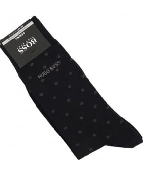 Hugo Boss Black With Grey Polka Dot RS Design Sock