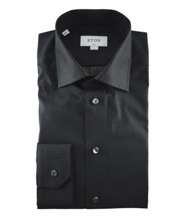 Eton Black With Micro Squares 200879511 Shirt