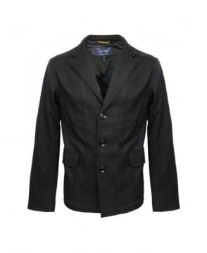 Armani Jeans Black Wool Jacket U6N82