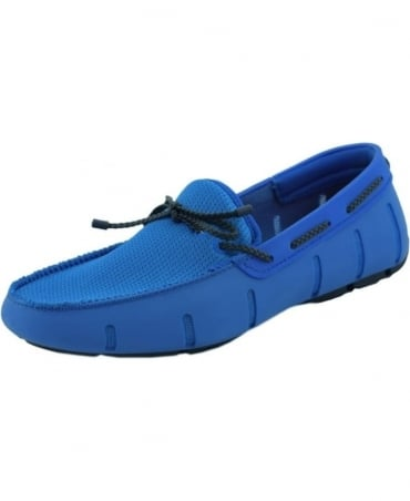 Swims Blitz Blue And Navy Braided Lace Up Loafer