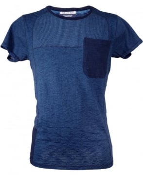 Scotch & Soda Blue 125088 Spot Pattern T-shirt