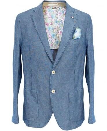 Manuel Ritz Blue 143041 Two Button Jacket