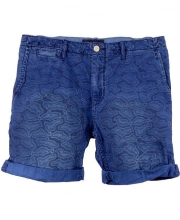 Scotch & Soda Blue 1505-03.87307 Theon Mid Length Shorts