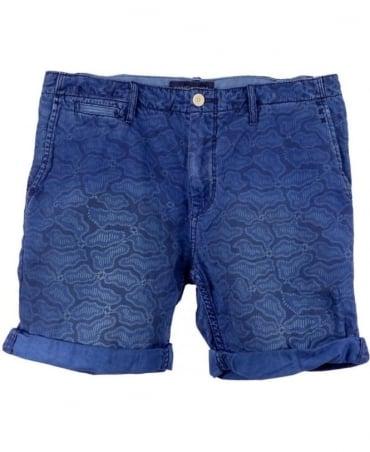 Scotch & Soda Blue 1505-03.87307 Theon Mid Length Shorts