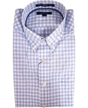 Gant Blue 308600 Wilshire Gingham ceck Shirt