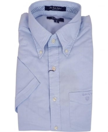 Gant Blue 342291 Oxford Button Down Collar Short Sleeve Shirt