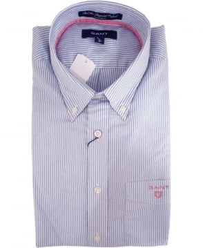 Gant Blue 343210 Bel Air Banker Stripe Shirt