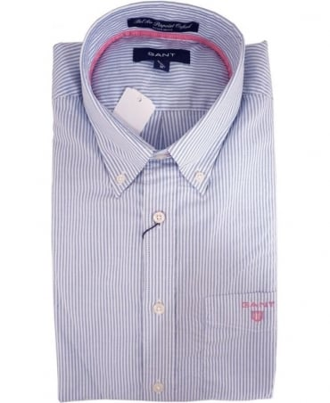 Gant Blue 343210 Bel Air Banker Stripe Shirt