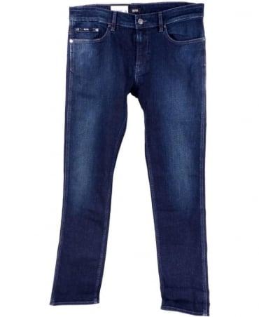 Hugo Boss Blue 50289712 Delaware1 Slim Fit Stretch Zip Fly Jeans