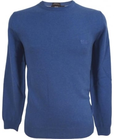 Hugo Boss Blue 50302547 Finello Crew Neck Knitwear